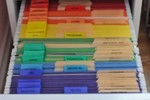 colour coding office filing