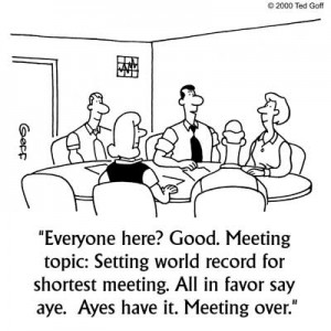 short effective meetings